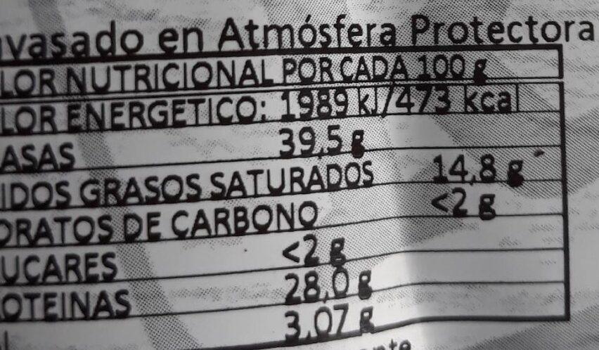 Chorizo de León dulce - Información nutricional