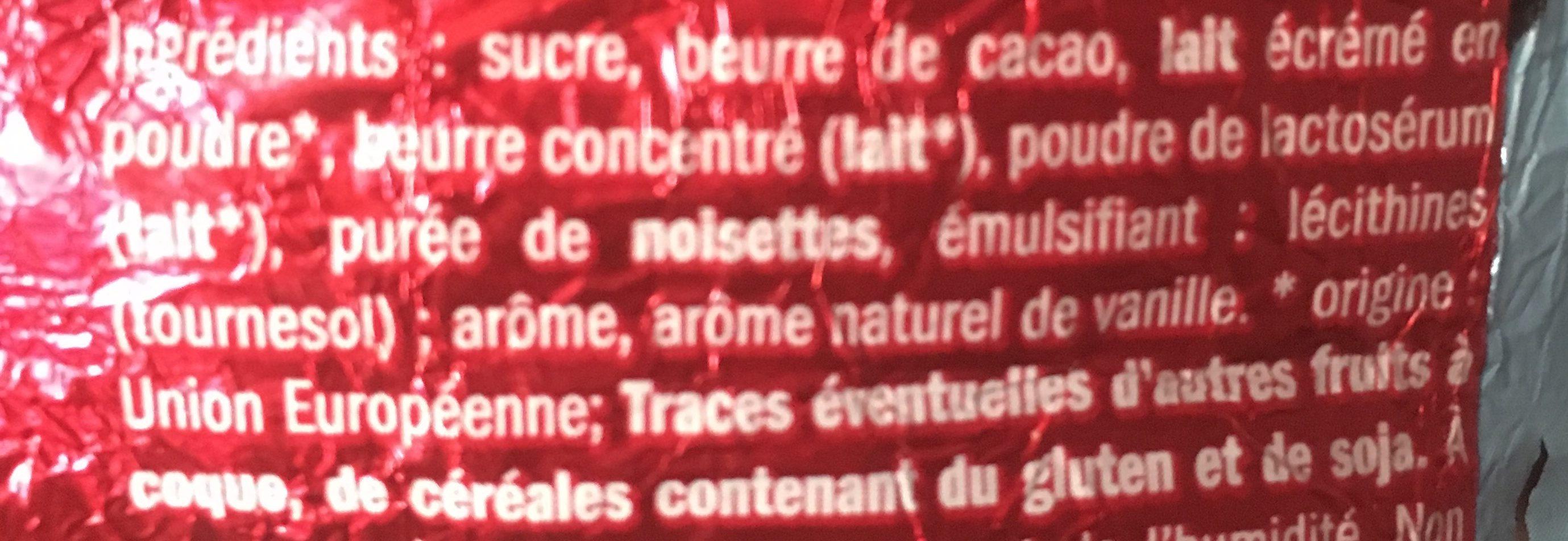 Père Noël Au Chocolat Au Lait - Ingrediënten