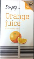 Orange juice from concentrate simply 1l e for Wine and orange juice name