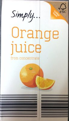 Orange juice from concentrate - Product