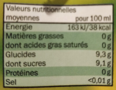 boisson a la pomme - Ingrediënten - fr