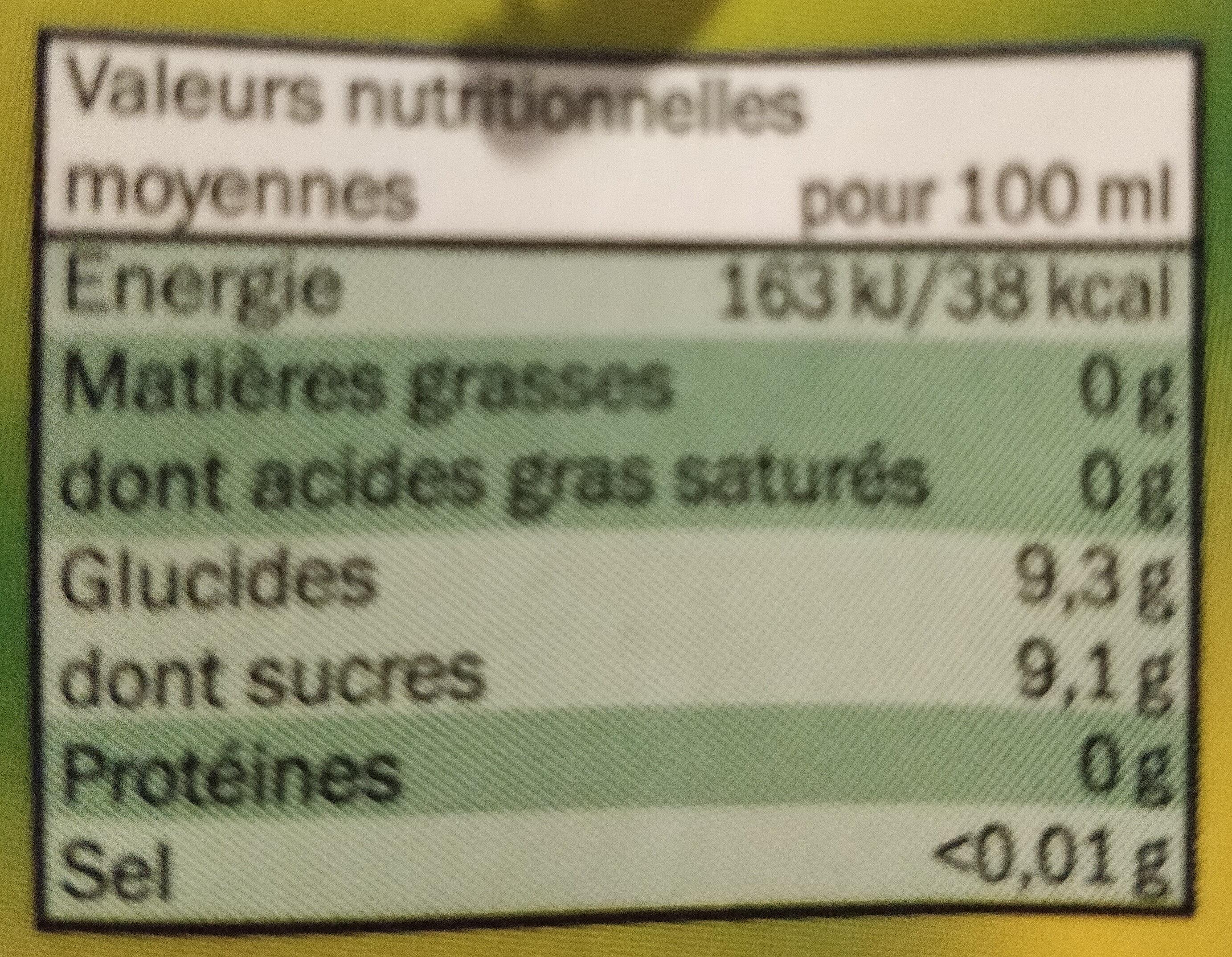 Boisson à la pomme - Ingrediënten - fr