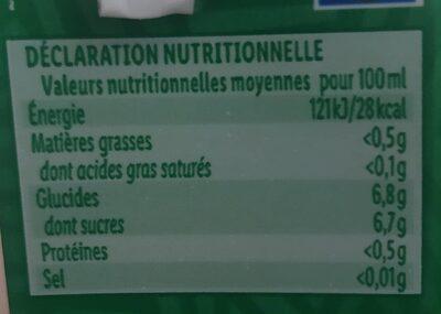Boisson à la pomme - Voedingswaarden - fr