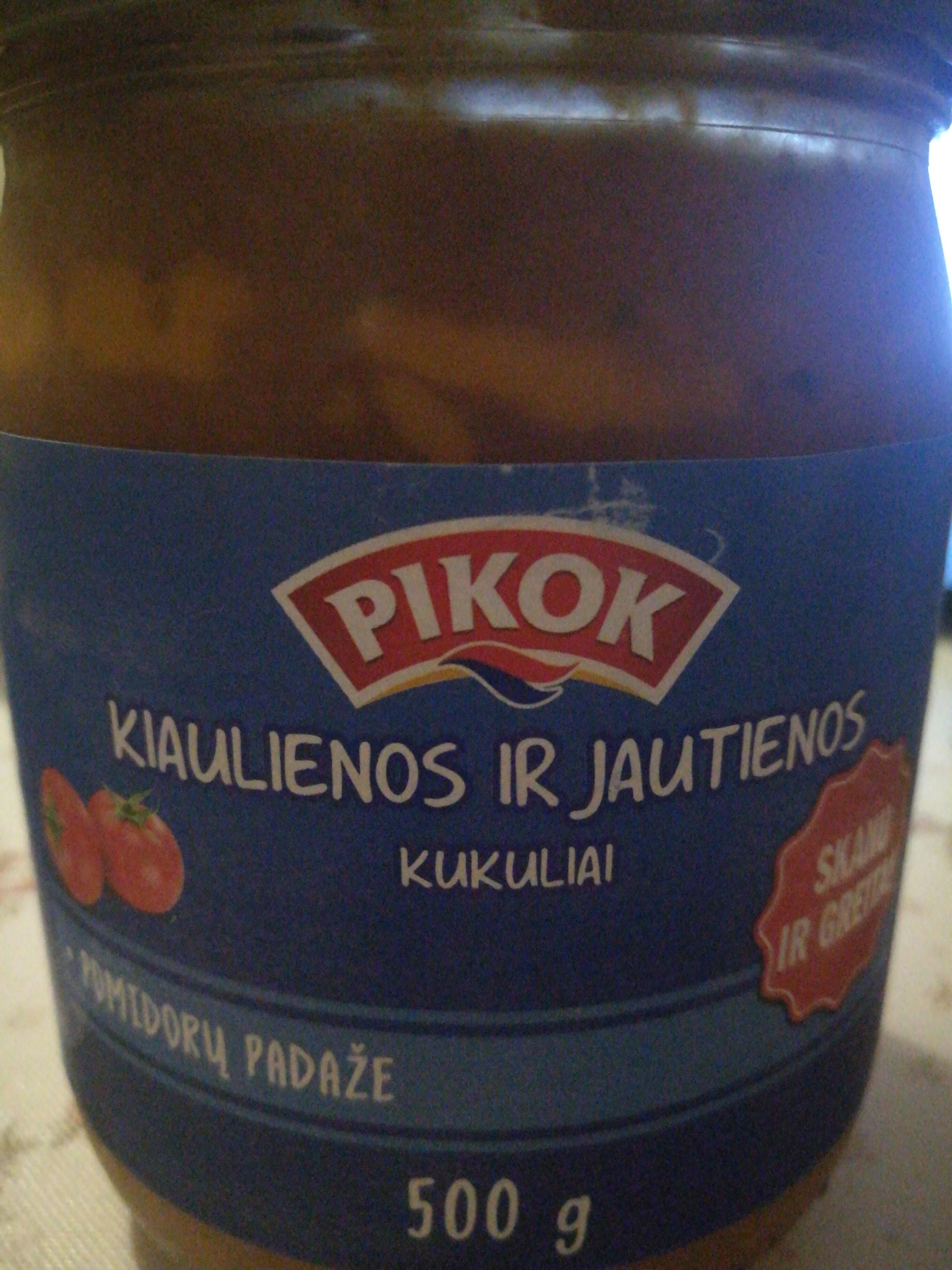 Kiaulienos ir jautienos kukuliai pomidorų padaže - Produktas - lt