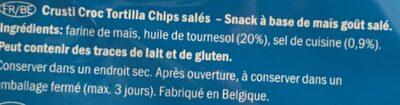 Tortilla - Ingrédients - fr