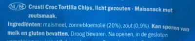 Tortilla - Ingrediënten - nl