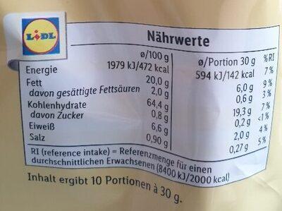 Tortilla - Nährwertangaben - de