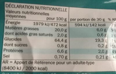 Tortilla - Informations nutritionnelles - fr