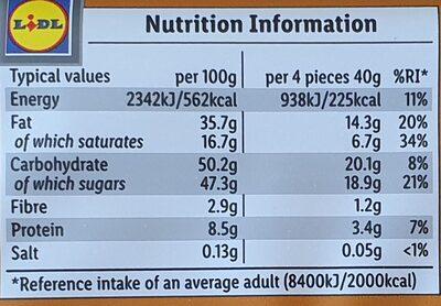Fin Carré Whole Nut - Nutrition facts - en