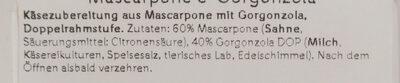 Gorgonzola Mascarpone - Zutaten - de