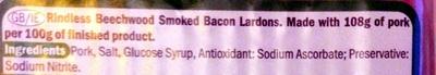 Bacon lardons - Ingredients