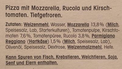 Pizza Rucola e Pomodorini - Ingrédients