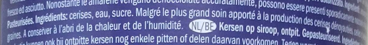 Cerises dénoyautées, sucrées - Ingredients - fr