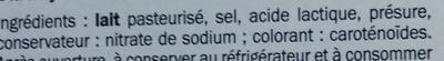 Gouda jeune en tranches doux (18,8% MG) - Ingrediënten - fr