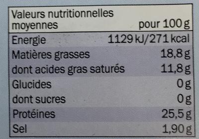 Gouda jeune en tranches doux (18,8% MG) - Voedingswaarden - fr