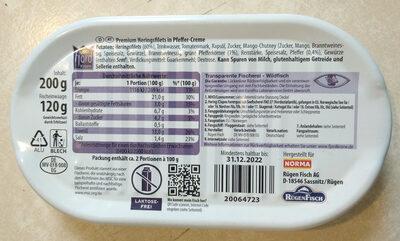 Premium Heringsfilets in Pfeffer-Creme - Ingredients