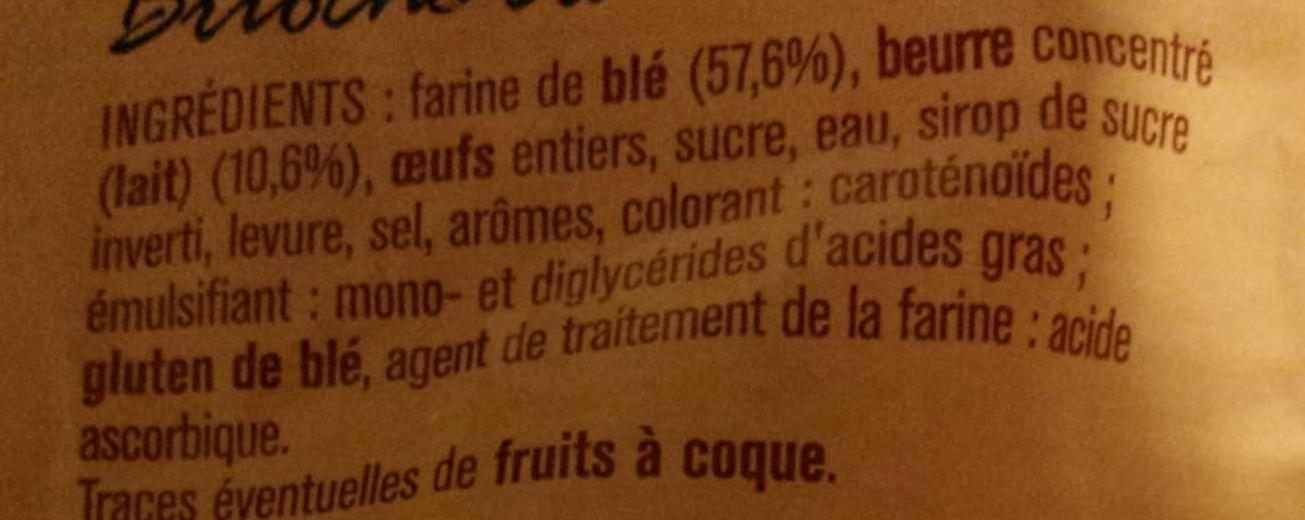 Brioche Pur beurre-Aux oeufs-Tranchée - Ingrédients - fr