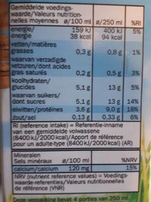 Halfvolle melk - Ingrédients - fr