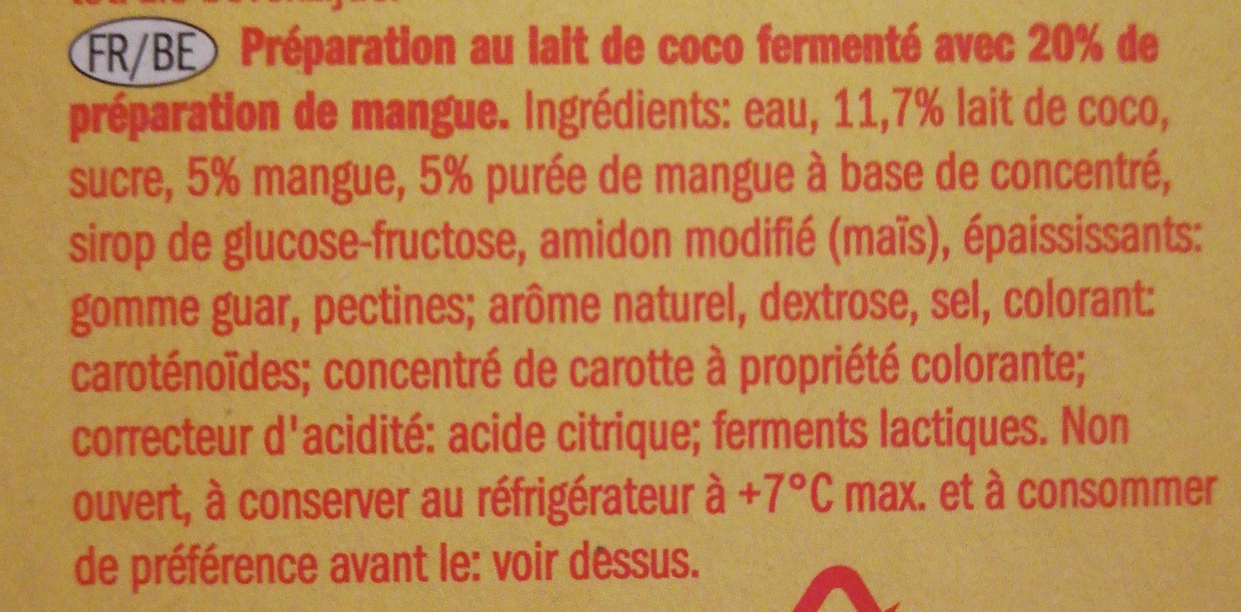 Coco mango - Ingrédients
