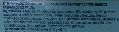 Coco vegetal arándanos - Ingredients - es