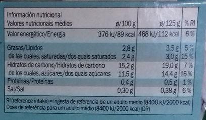 Coco vegetal arándanos - Informations nutritionnelles - es