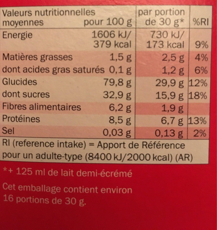 Golden Puffs - Informations nutritionnelles
