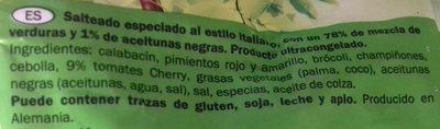 Salteado estilo italiano - Freshona - Ingredientes