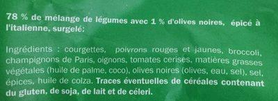 Poêlée italienne - Ingrédients - fr