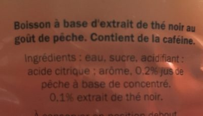 Iced Tea aromatisé saveur Pêche - Ingrediënten - fr