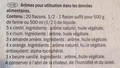 Baking flavourings - Ingrédients - fr