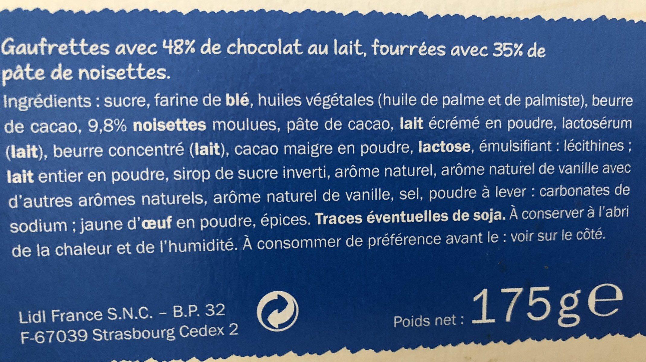 Gaufrettes croustillante - Ingredients - fr