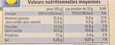 Gaufrettes croustillante - Nutrition facts - fr