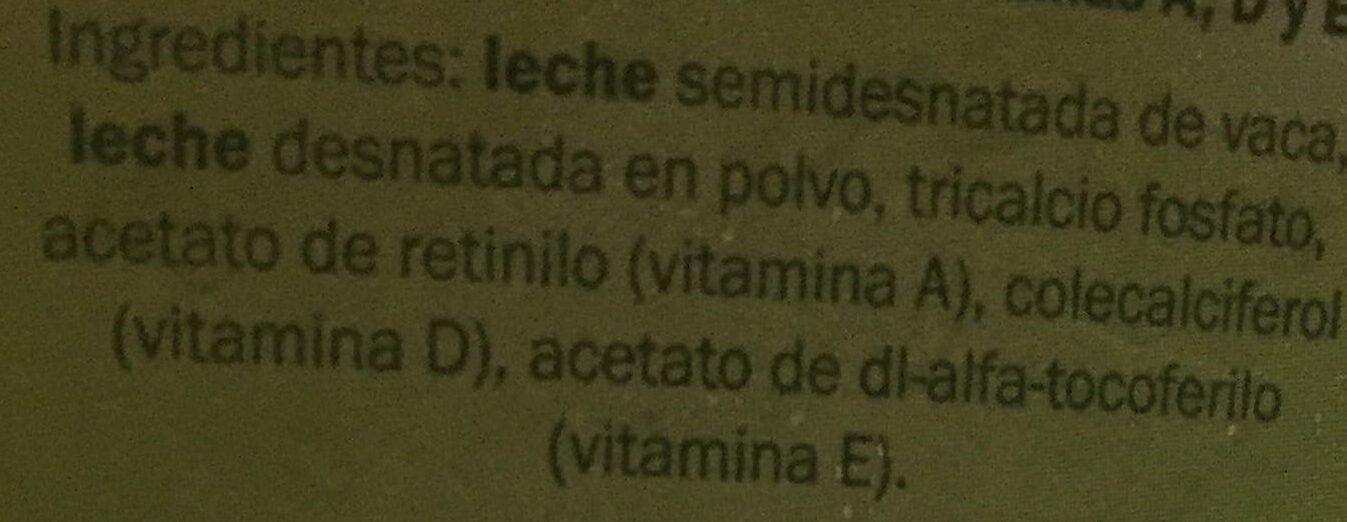 Leche UHT Semidesnatada Calcio - Inhaltsstoffe - es