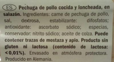 Pechuga de pollo - Ingredients