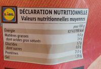 Grignottes de poulet roti - Nutrition facts - fr