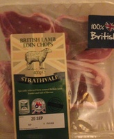 British Lamb loin chops - Product