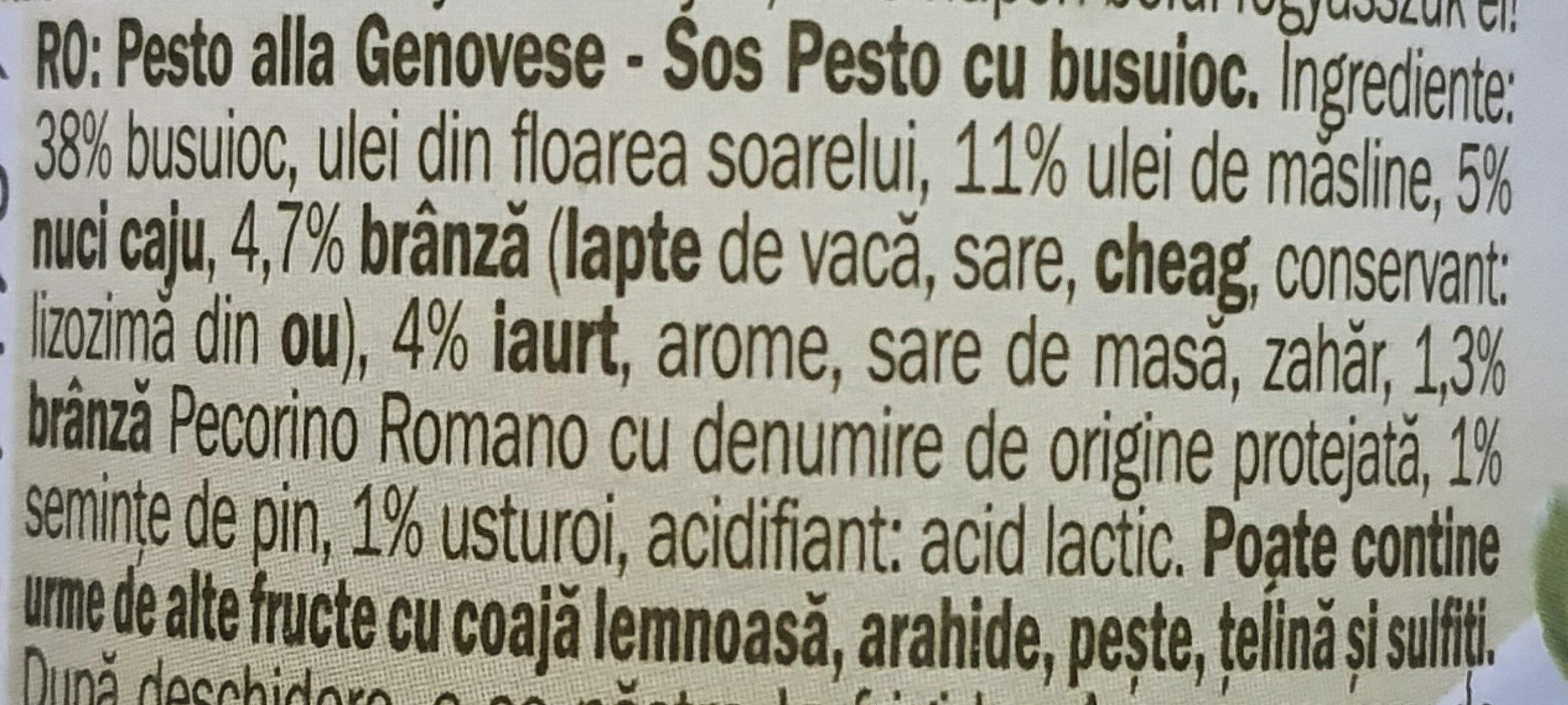 Pesto allá genovese - Ingrediënten - en