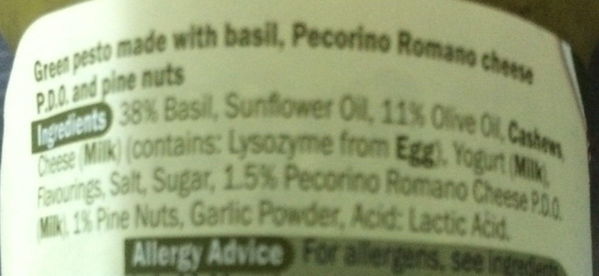 Sauce au basilic - Ingredients - en