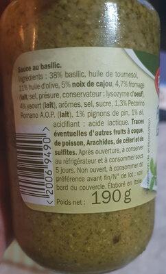 Pesto allá genovese - Informations nutritionnelles - fr