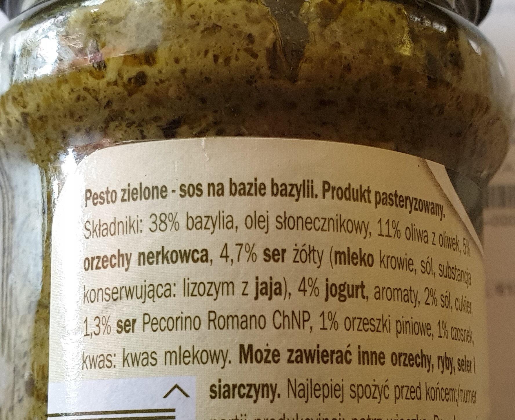 Pesto allá genovese - Wartości odżywcze - pl