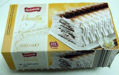 Vanilla Flavour Layered Ice Cream Log - Product