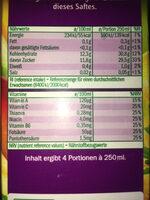 Multivitamin aus 11 Früchten und Karotte - Nährwertangaben
