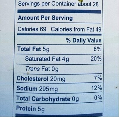 Cheese in brine - Nutrition facts