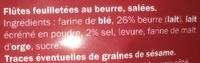 Flûtes Salées - Zutaten - fr