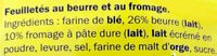 Flûtes au fromage - Ingredients - fr