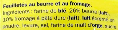 Flûtes au fromage - Ingrédients