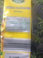 Flûtes au fromage - Nutrition facts - fr