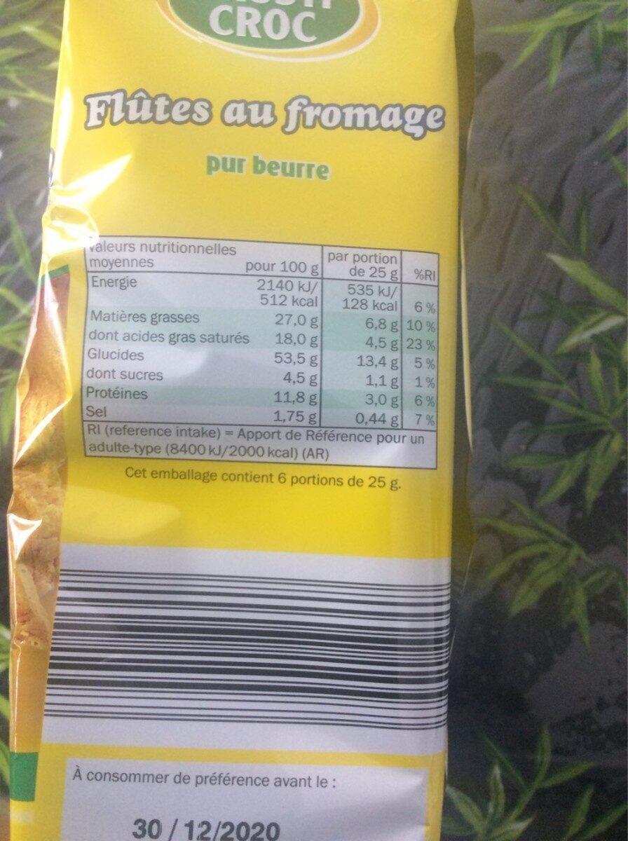 Flûtes au fromage - Informations nutritionnelles - fr