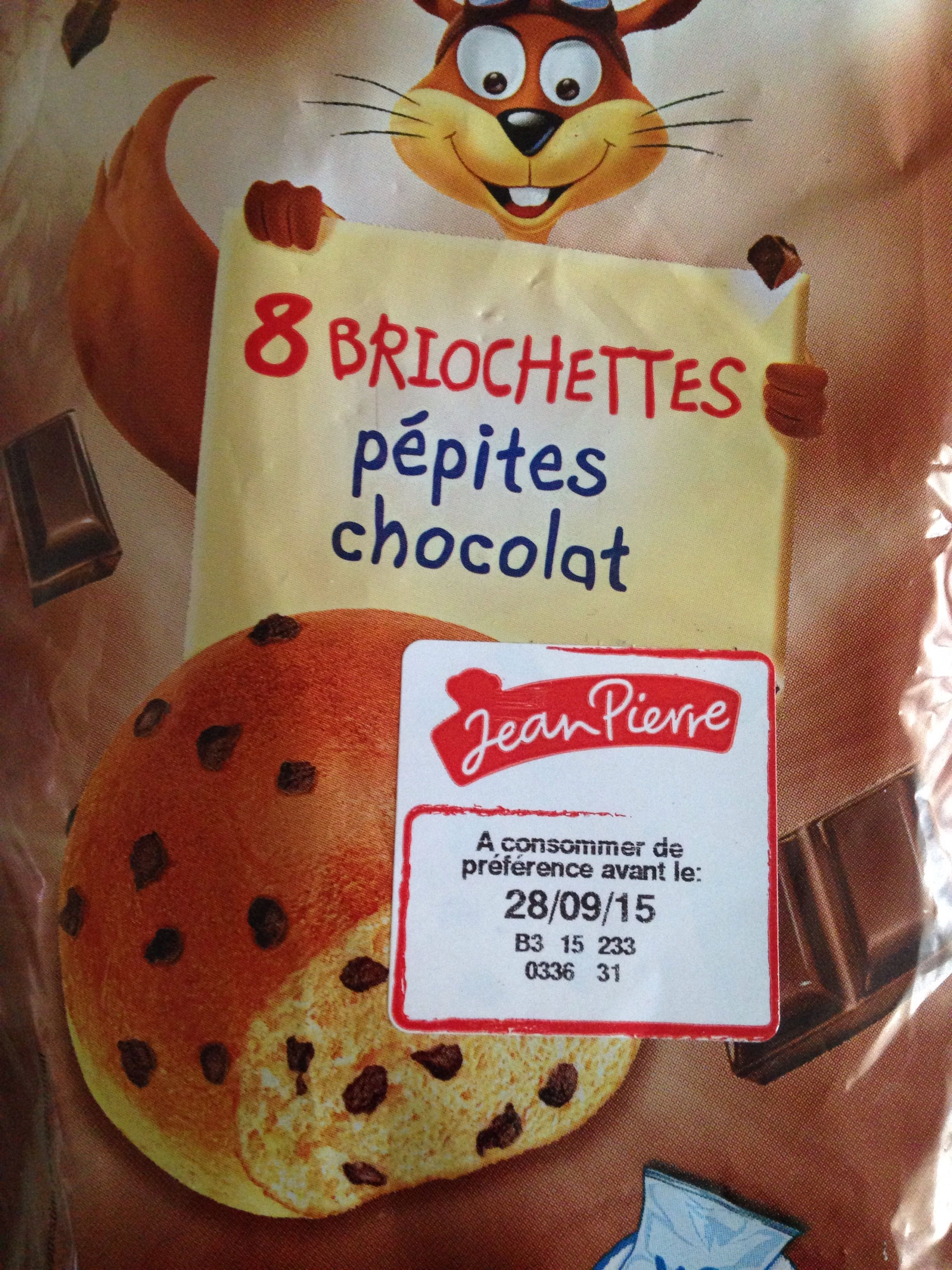 8 briochettes pépites chocolat - Product