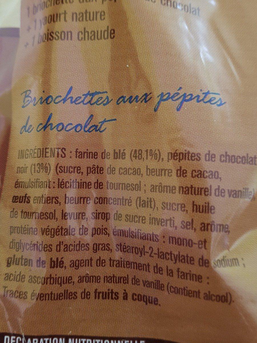 8 briochettes pépites chocolat - Ingredients
